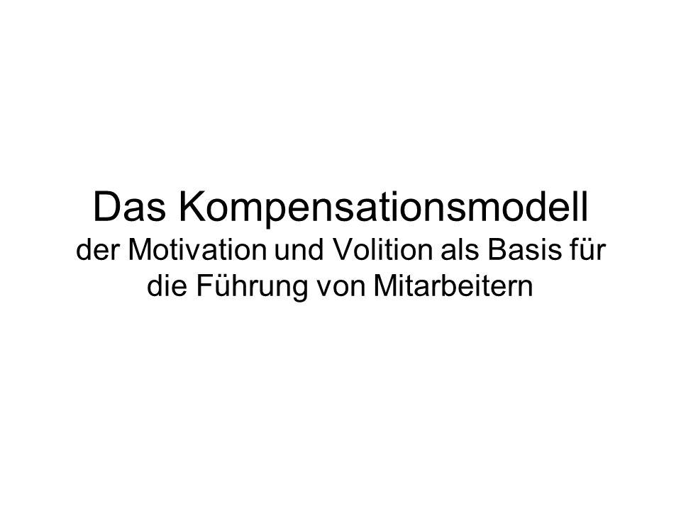 Das Kompensationsmodell der Motivation und Volition als Basis für die Führung von Mitarbeitern