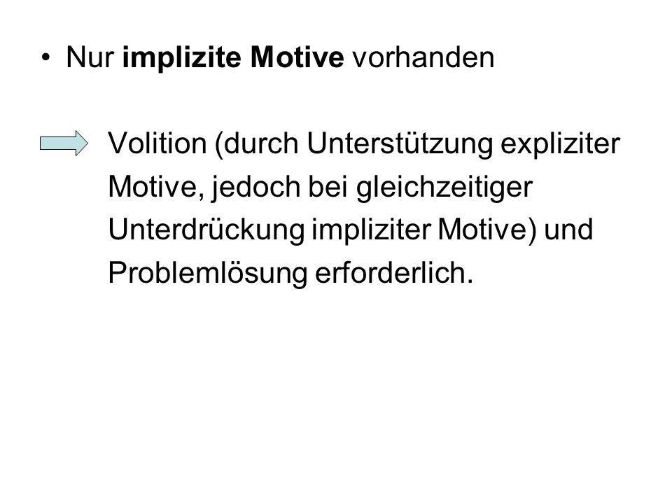Nur implizite Motive vorhanden