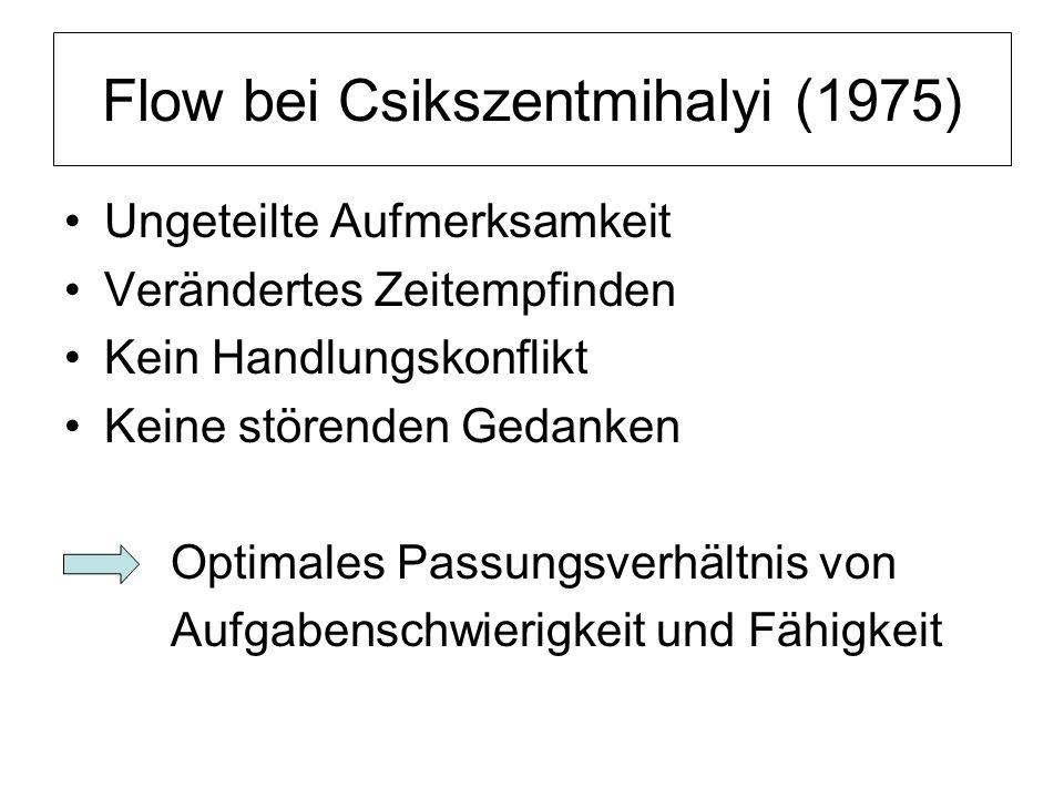 Flow bei Csikszentmihalyi (1975)
