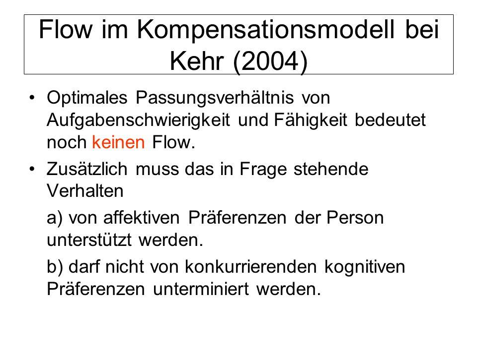 Flow im Kompensationsmodell bei Kehr (2004)