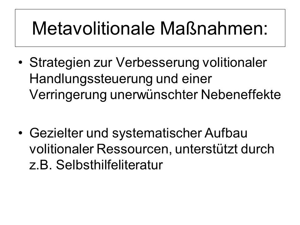 Metavolitionale Maßnahmen: