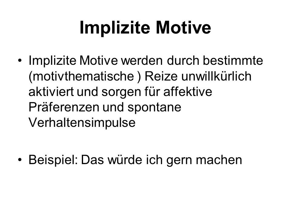 Implizite Motive