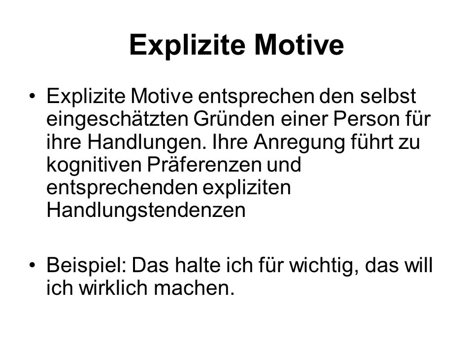 Explizite Motive