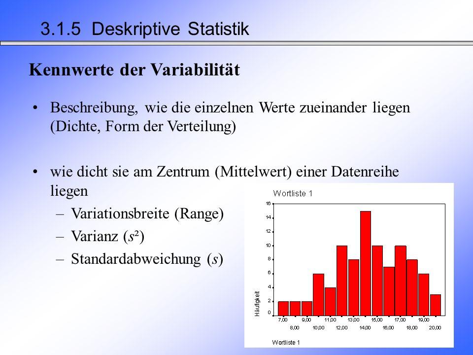 3.1.5 Deskriptive Statistik