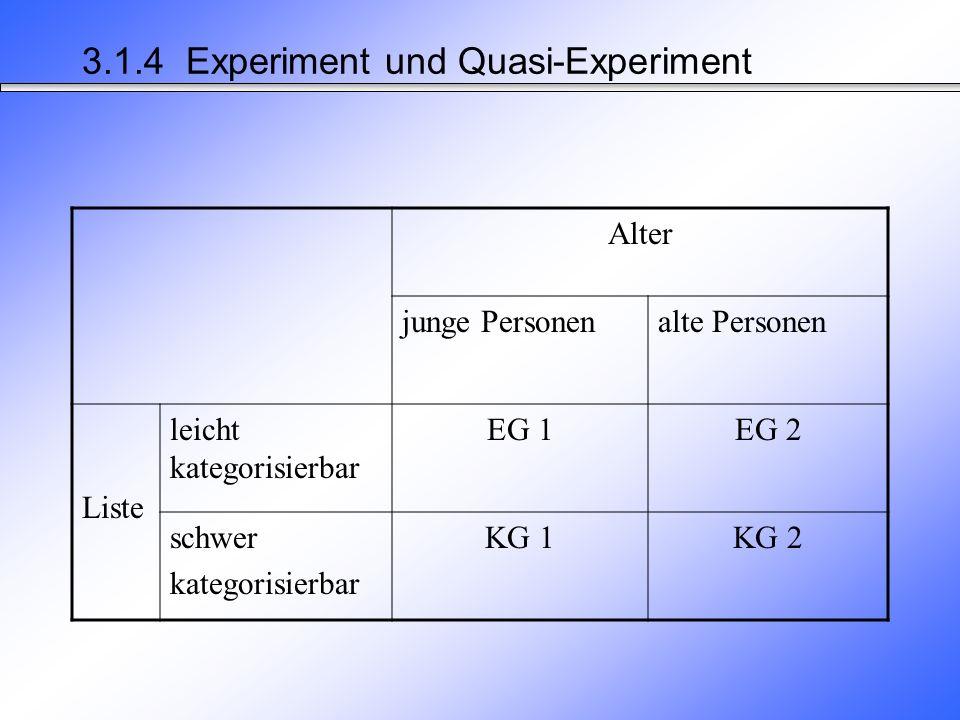 3.1.4 Experiment und Quasi-Experiment