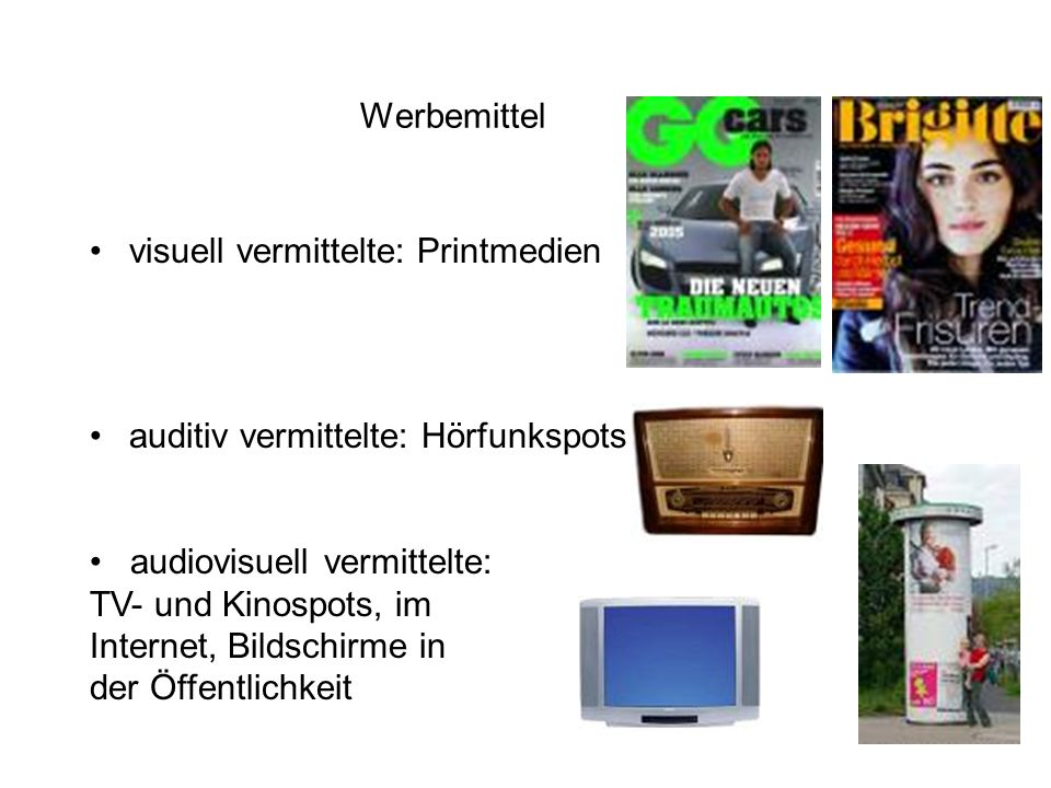 visuell vermittelte: Printmedien