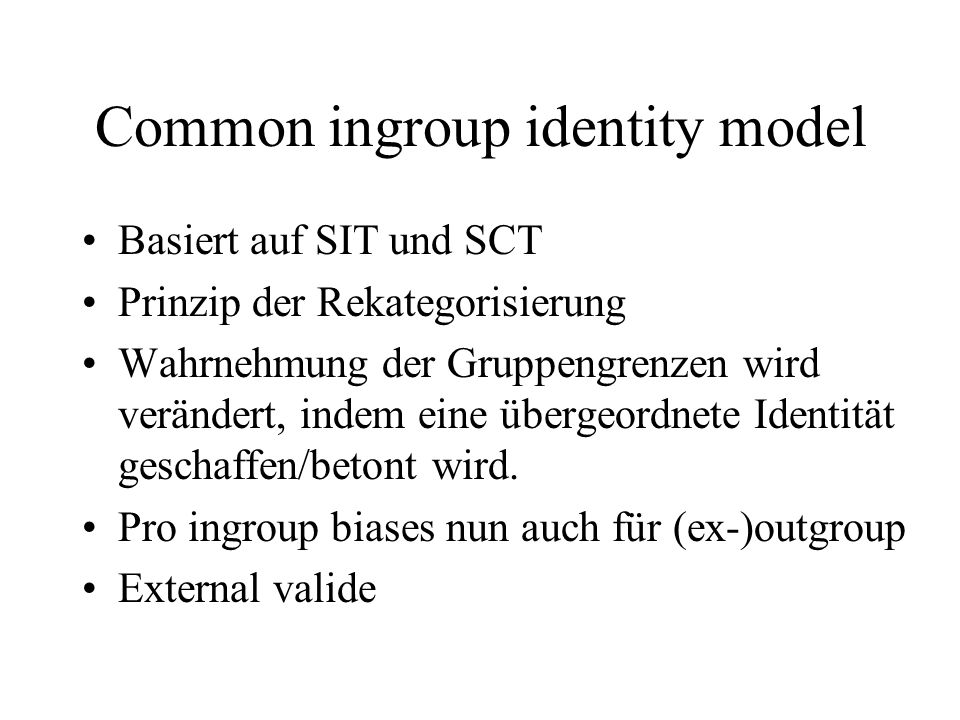 Common ingroup identity model
