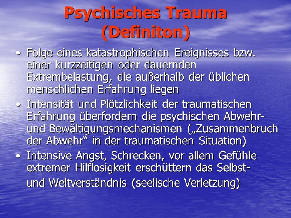 Psychisches Trauma (Definiton)
