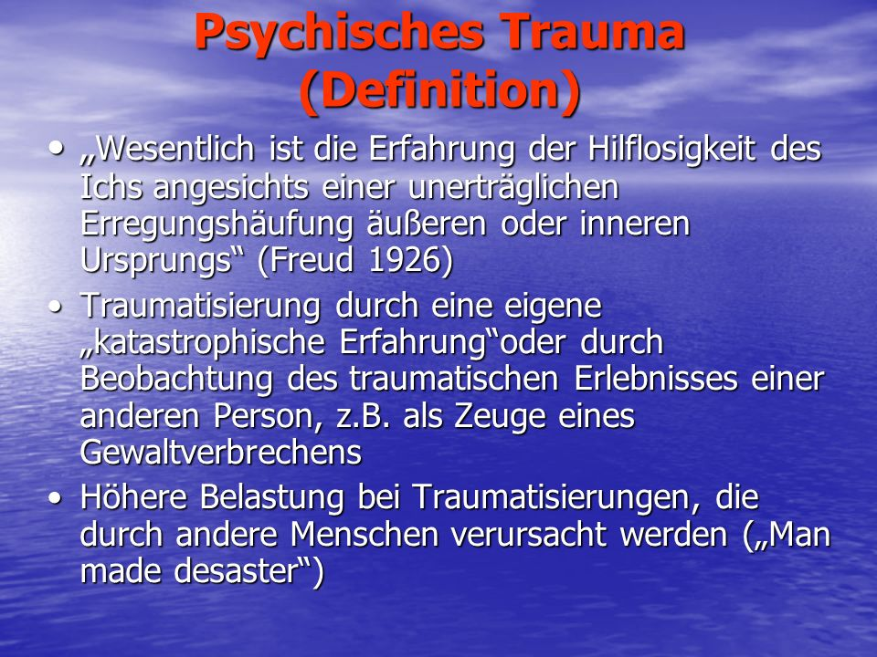 Psychisches Trauma (Definition)
