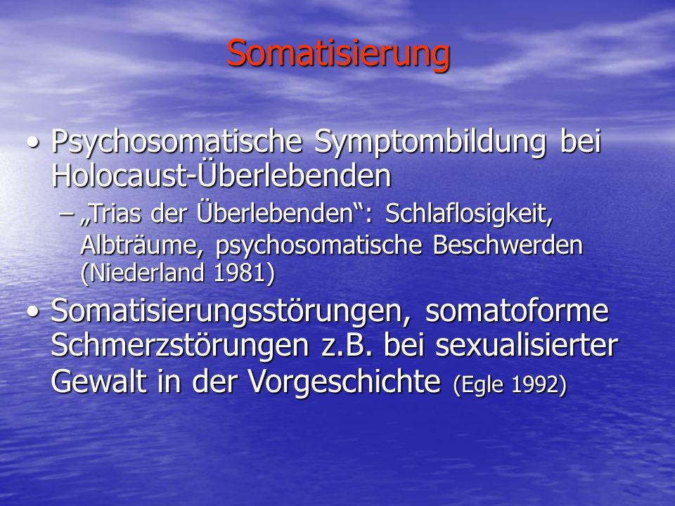 Somatisierung Psychosomatische Symptombildung bei Holocaust-Überlebenden.