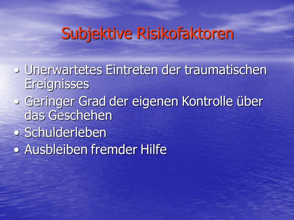 Subjektive Risikofaktoren