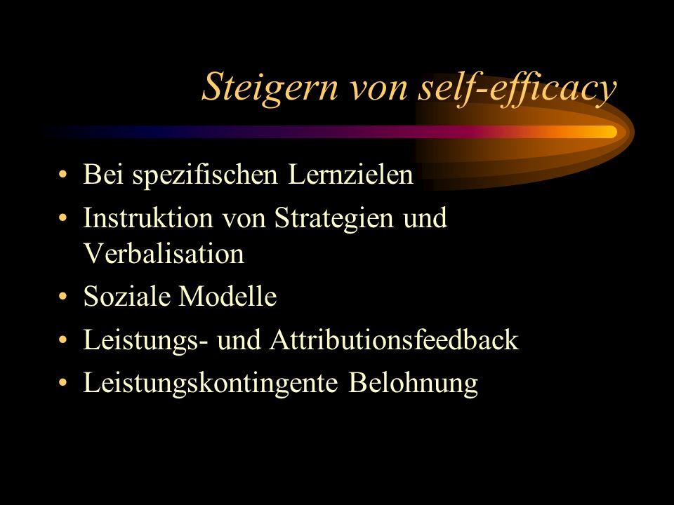 Steigern von self-efficacy