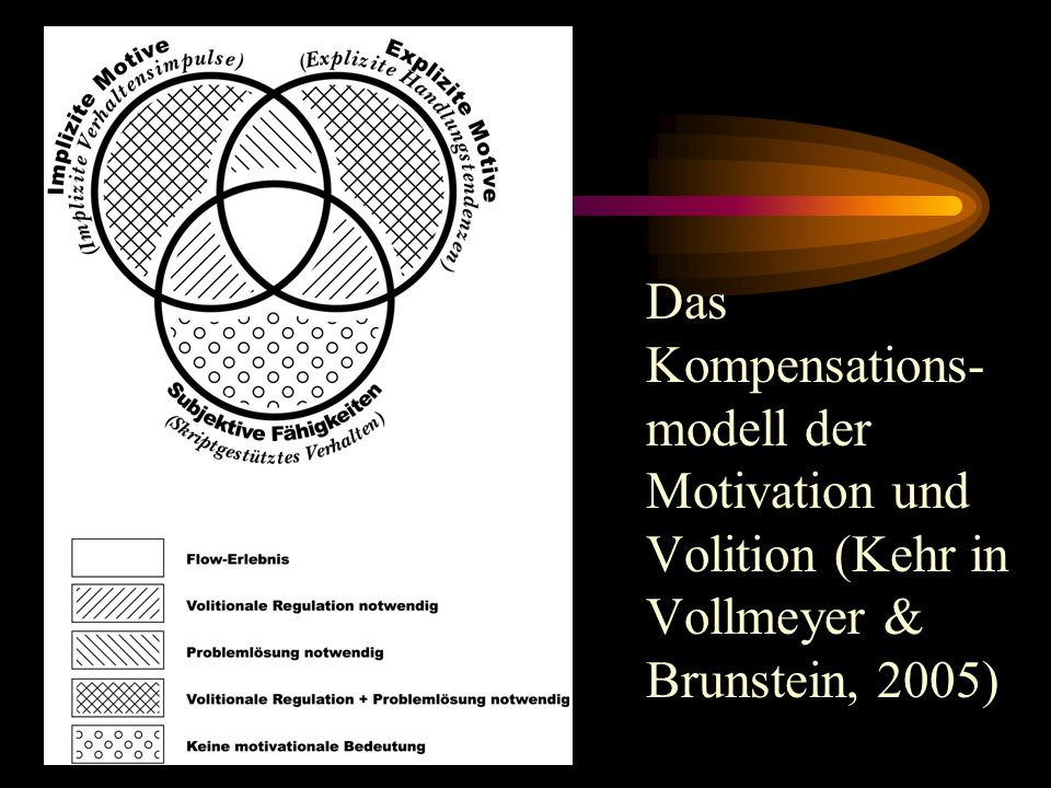 Das Kompensations-modell der Motivation und Volition (Kehr in Vollmeyer & Brunstein, 2005)