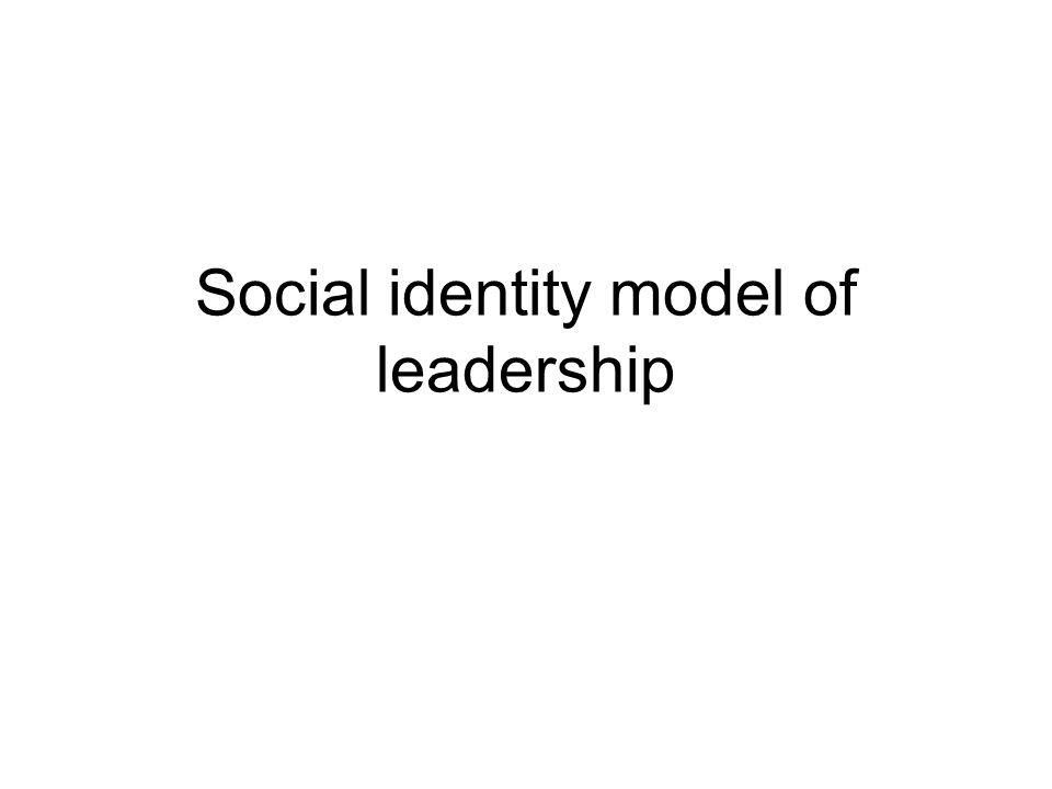 Social identity model of leadership
