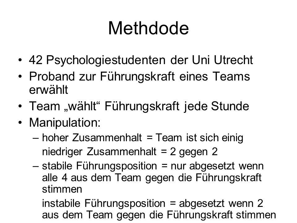Methdode 42 Psychologiestudenten der Uni Utrecht