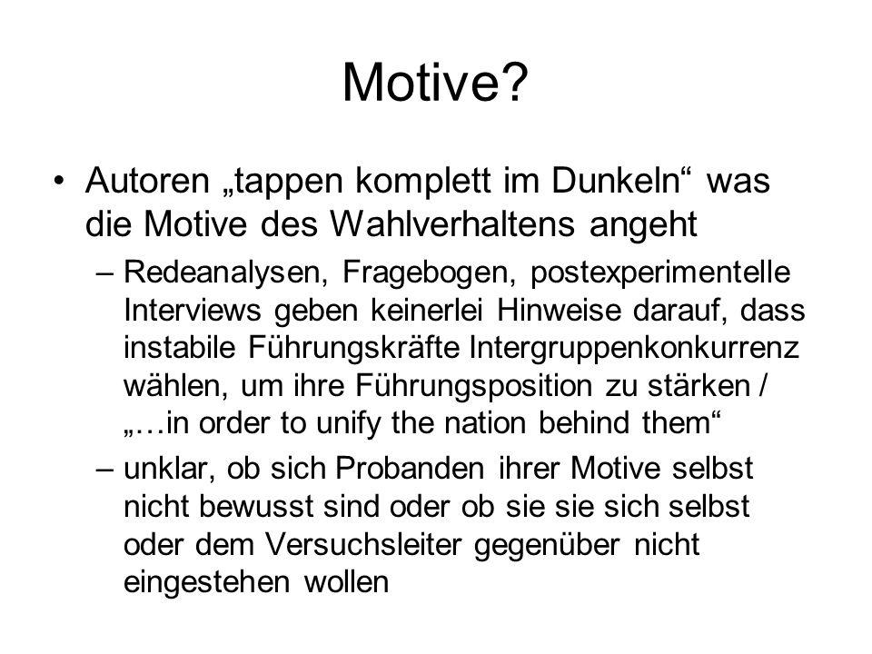 """Motive Autoren """"tappen komplett im Dunkeln was die Motive des Wahlverhaltens angeht."""