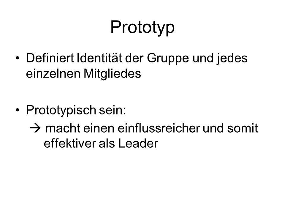 Prototyp Definiert Identität der Gruppe und jedes einzelnen Mitgliedes