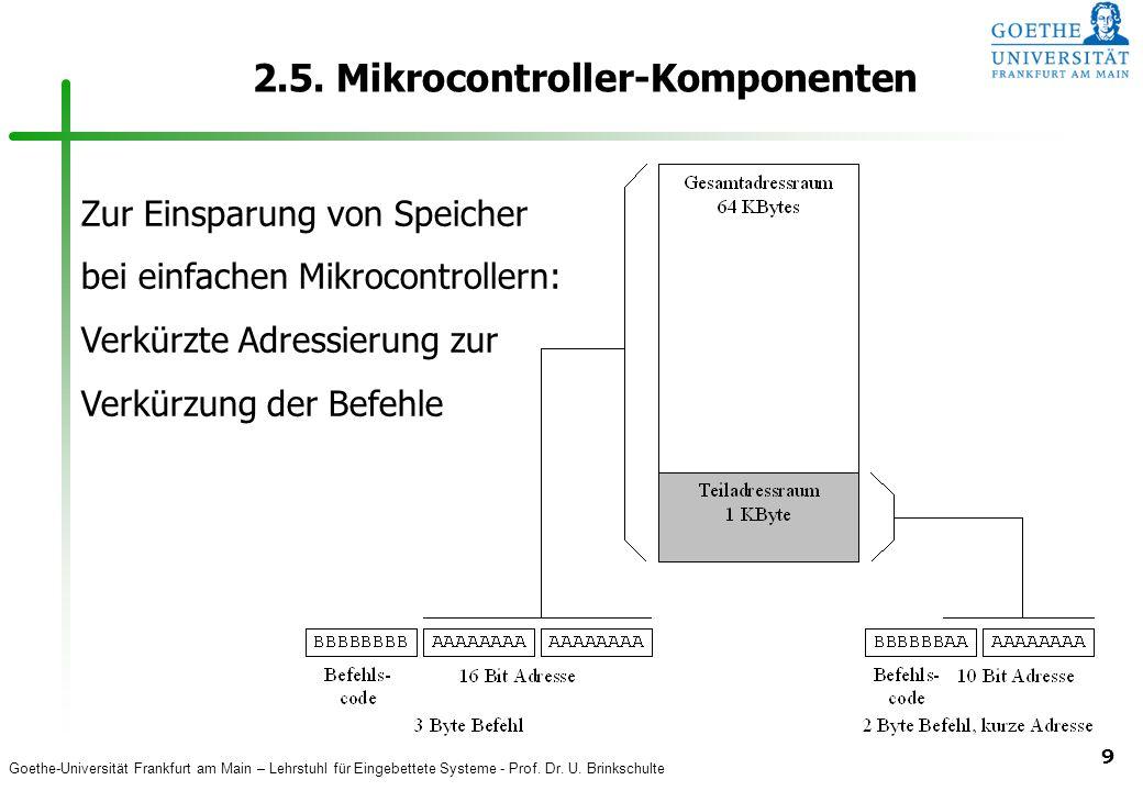 2.5. Mikrocontroller-Komponenten