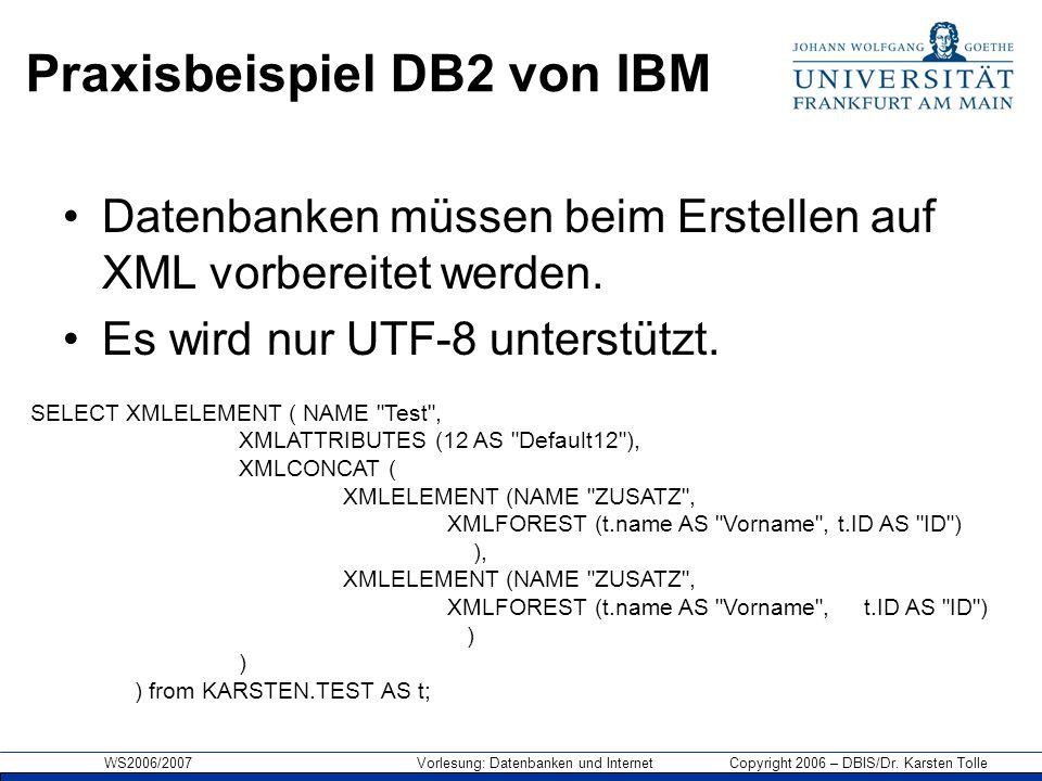 Praxisbeispiel DB2 von IBM