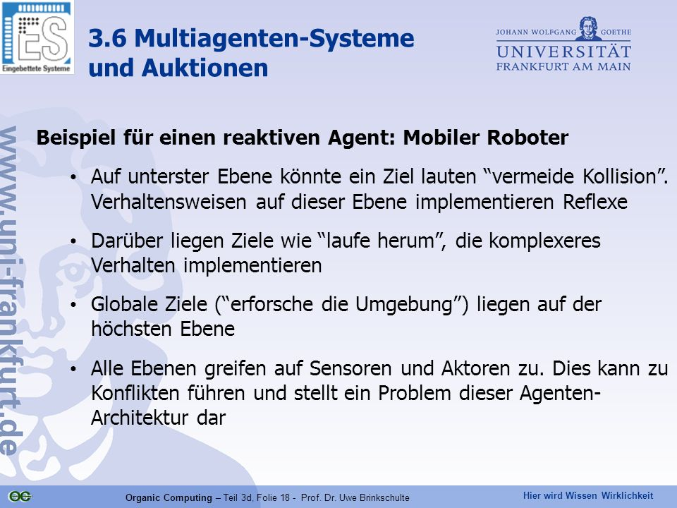 3.6 Multiagenten-Systeme und Auktionen
