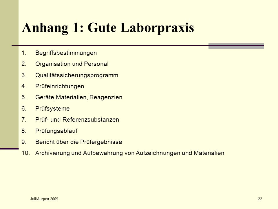 Anhang 1: Gute Laborpraxis
