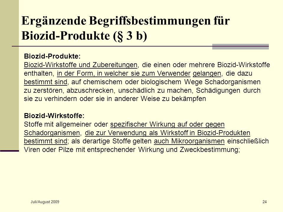 Ergänzende Begriffsbestimmungen für Biozid-Produkte (§ 3 b)