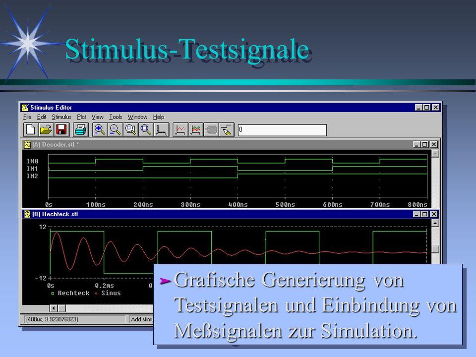 Stimulus-Testsignale