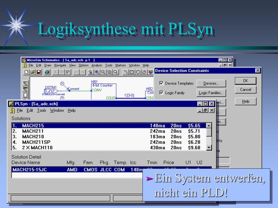 Logiksynthese mit PLSyn