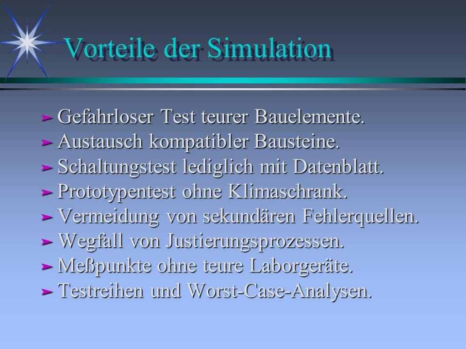 Vorteile der Simulation