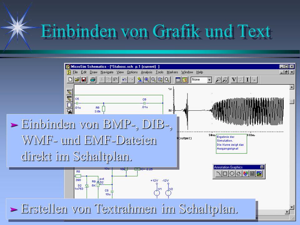 Einbinden von Grafik und Text