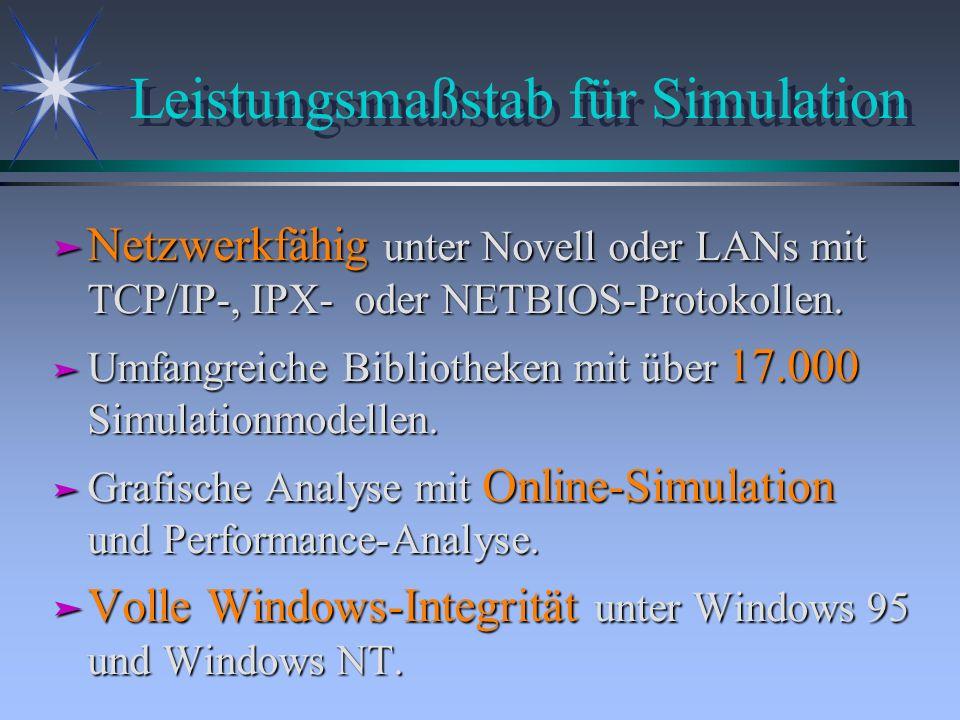 Leistungsmaßstab für Simulation