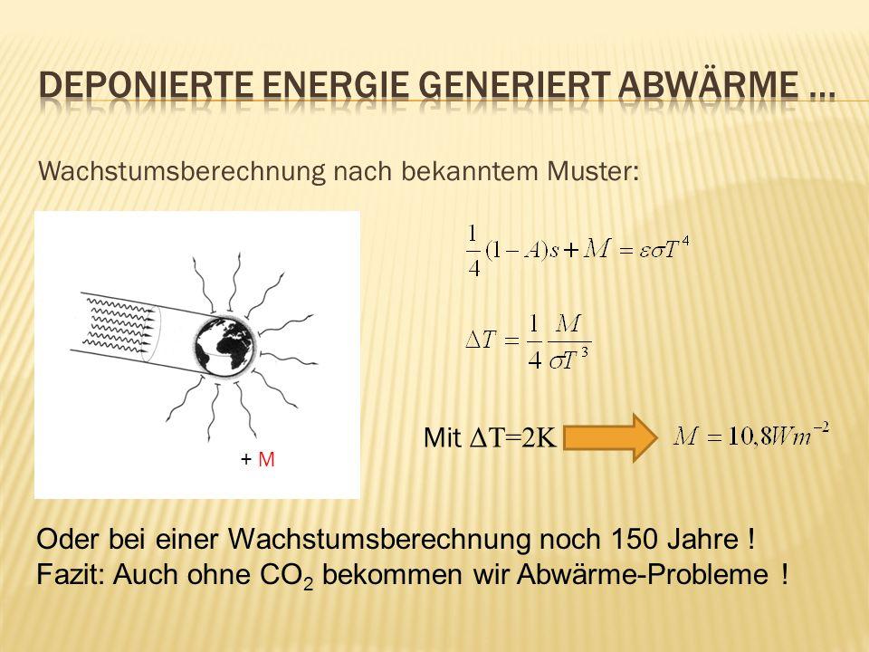Deponierte Energie generiert Abwärme …