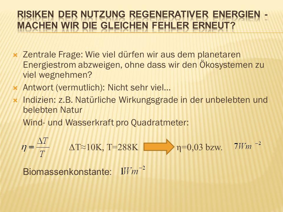 Risiken der Nutzung regenerativer Energien - machen wir die gleichen Fehler erneut