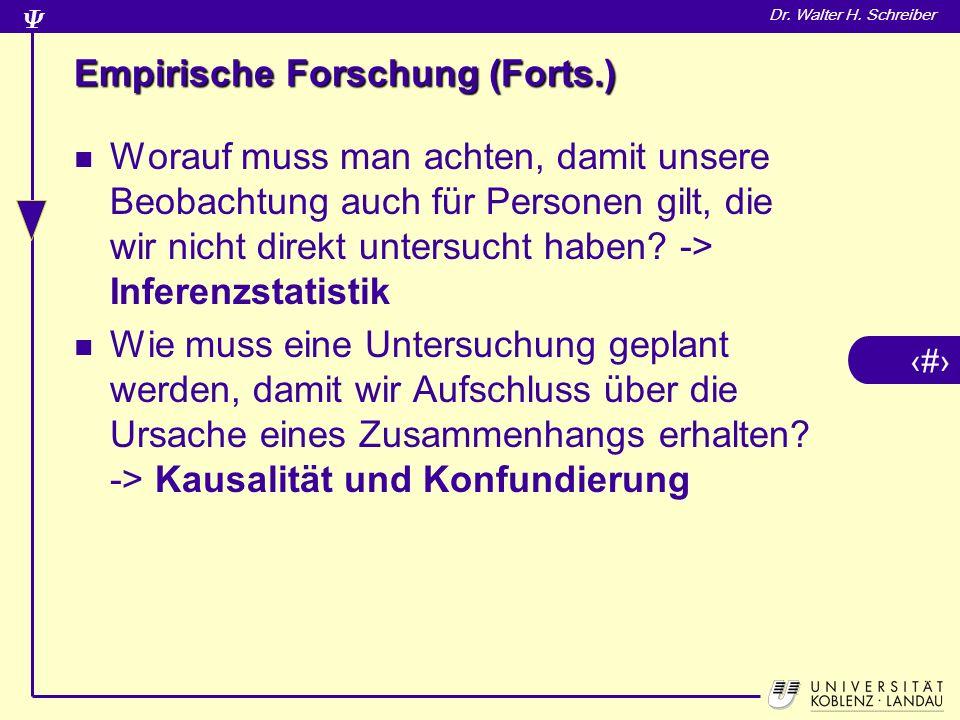 Empirische Forschung (Forts.)