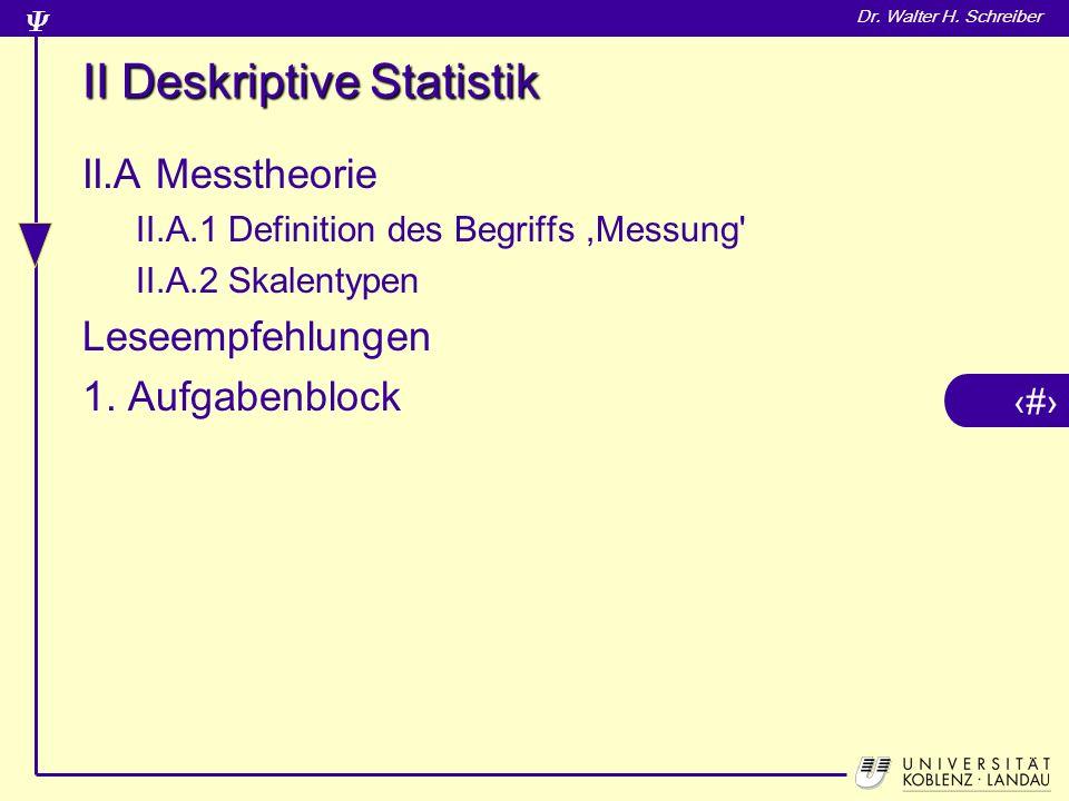 II Deskriptive Statistik