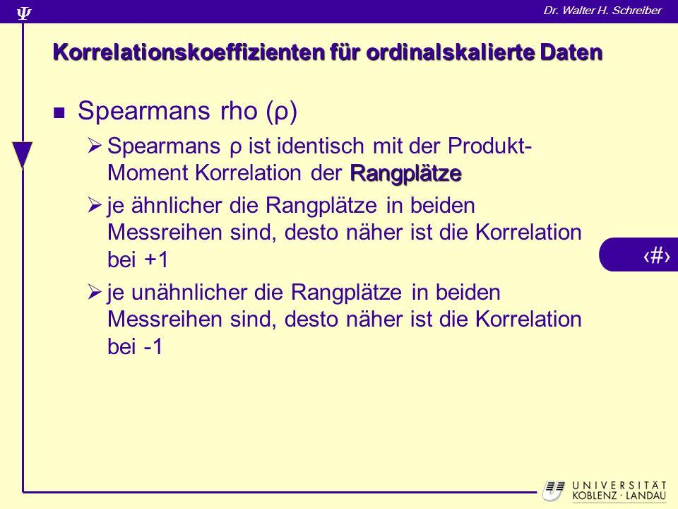 Korrelationskoeffizienten für ordinalskalierte Daten