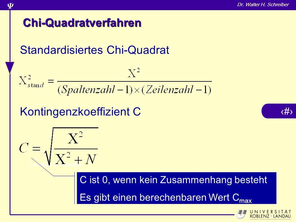 Chi-Quadratverfahren