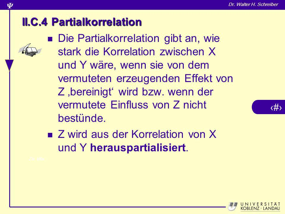 II.C.4 Partialkorrelation