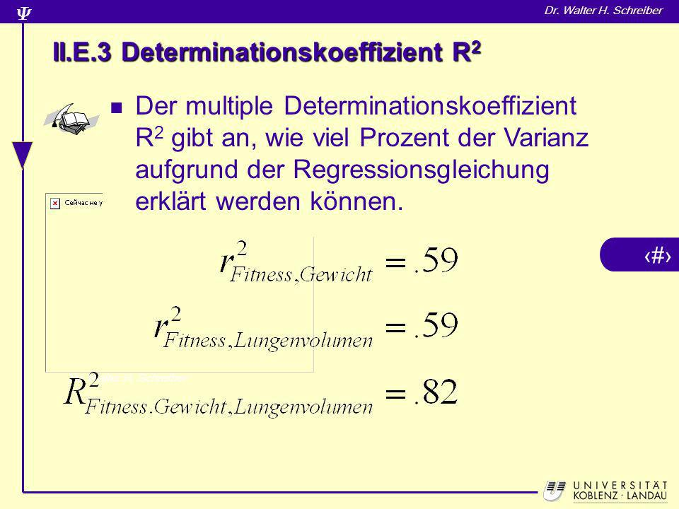II.E.3 Determinationskoeffizient R2