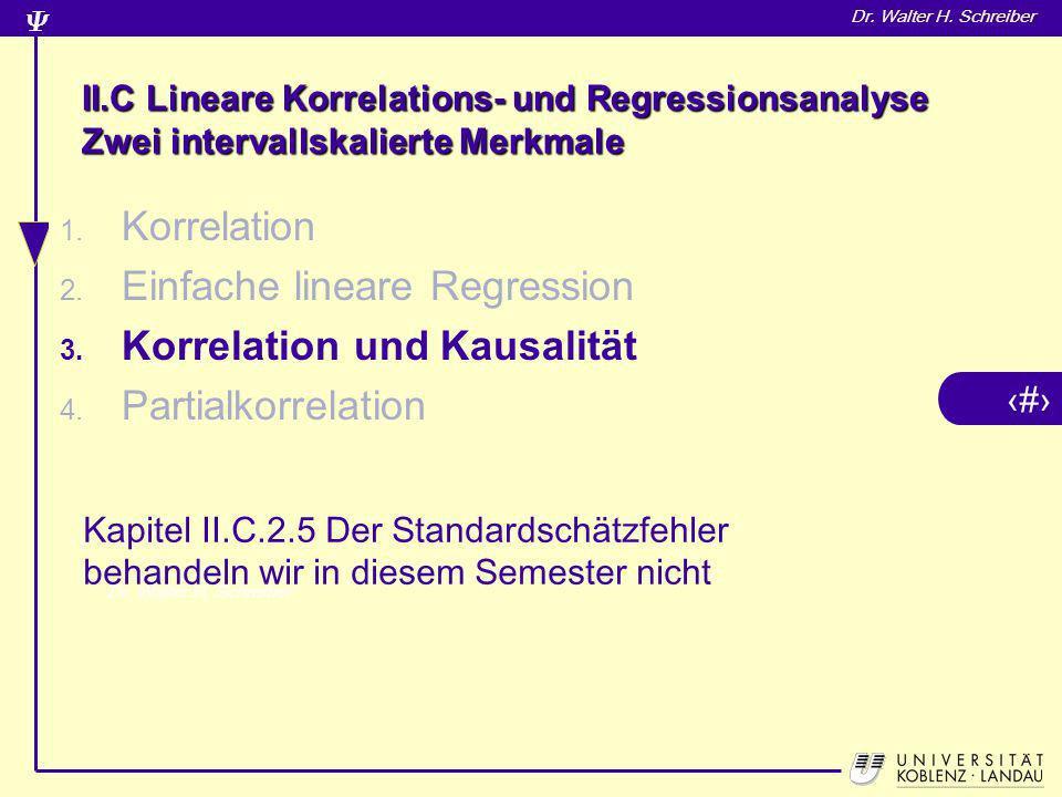 Einfache lineare Regression Korrelation und Kausalität
