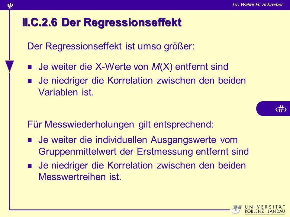 II.C.2.6 Der Regressionseffekt