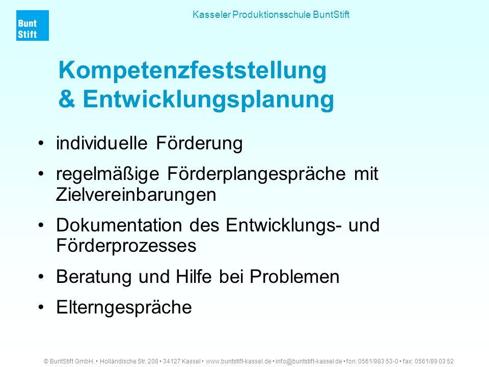 Kompetenzfeststellung & Entwicklungsplanung