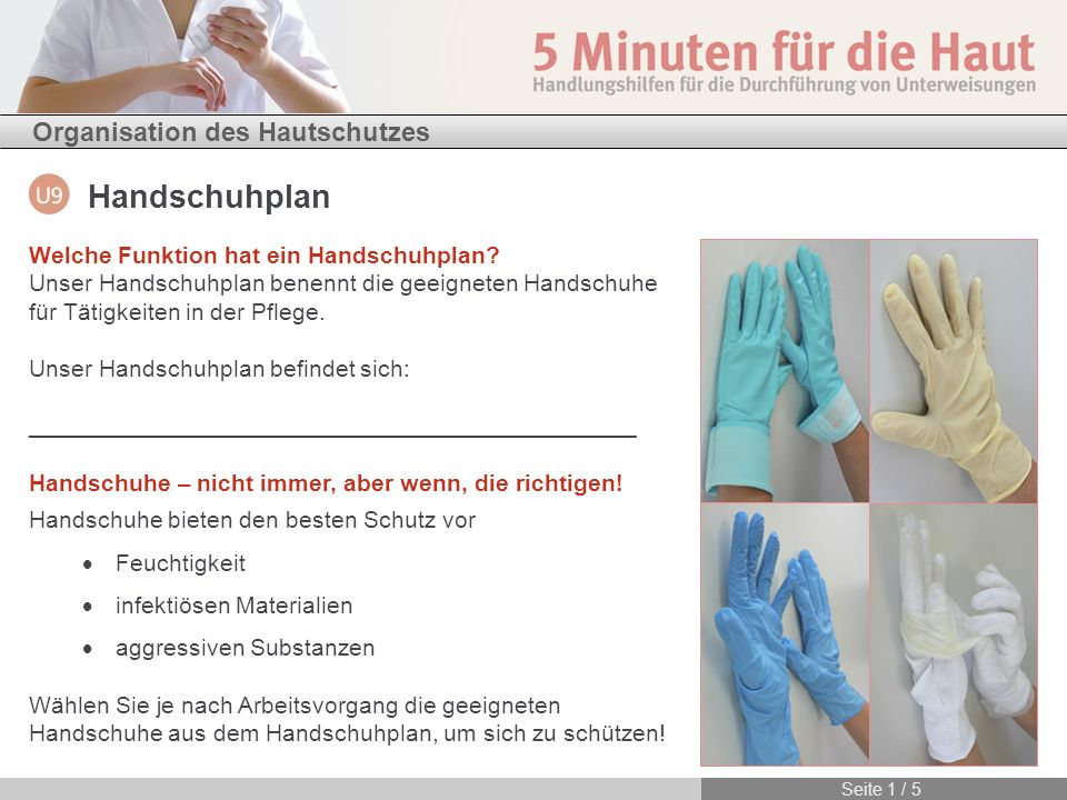 Welche Funktion hat ein Handschuhplan
