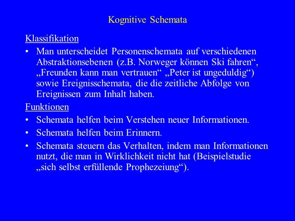 Kognitive SchemataKlassifikation.