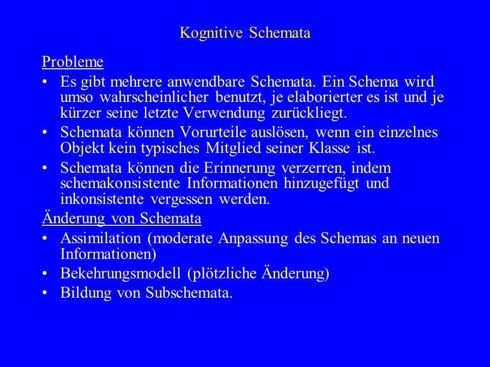Kognitive SchemataProbleme.