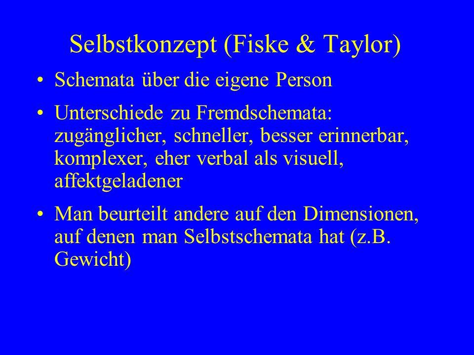 Selbstkonzept (Fiske & Taylor)