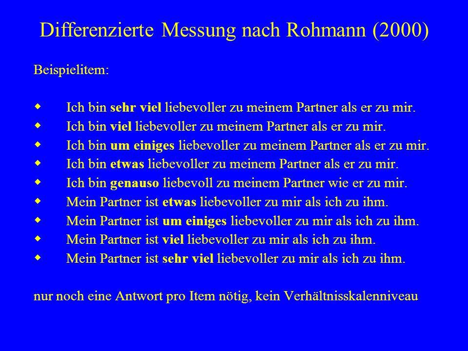 Differenzierte Messung nach Rohmann (2000)