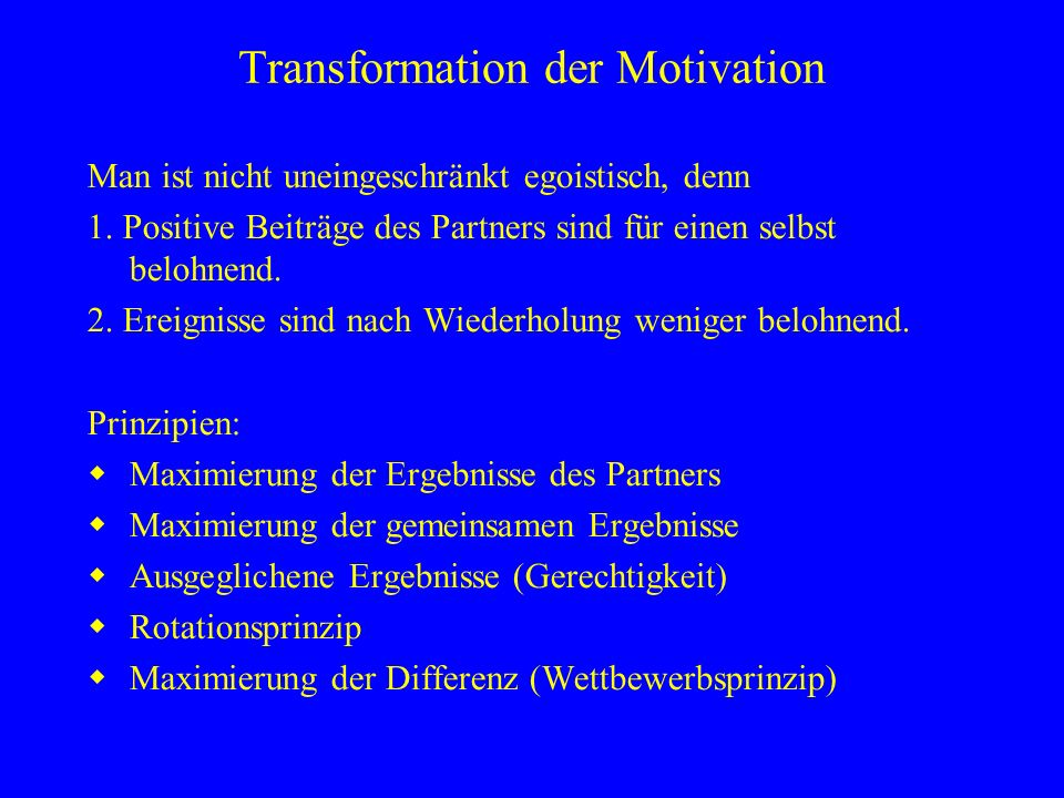 Transformation der Motivation
