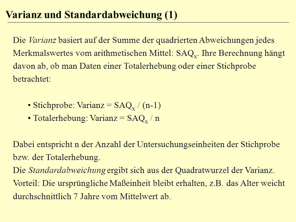 Varianz und Standardabweichung (1)