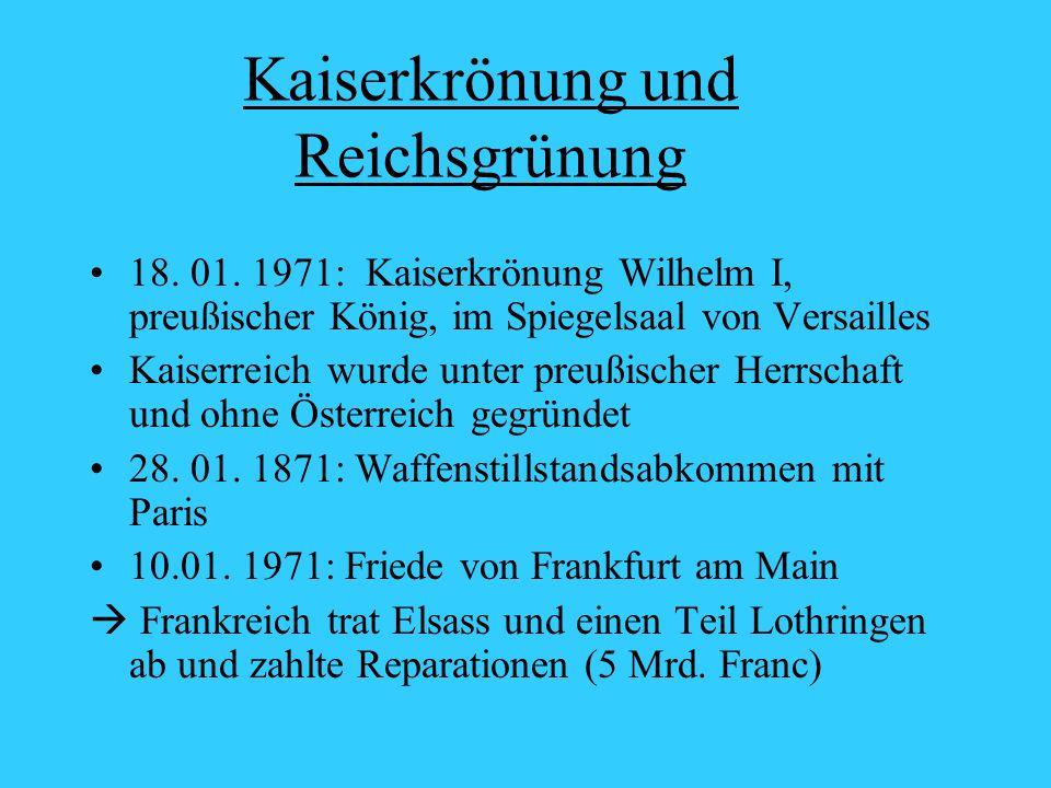 Kaiserkrönung und Reichsgrünung